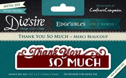 Crafters Companion Edgeables Only Words Thank You So Much