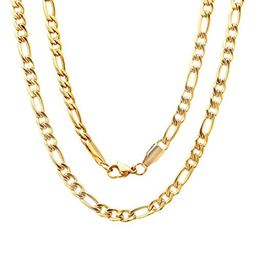 """Gold filled Figaro chain 24"""""""