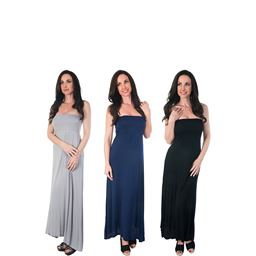 Agiato Women's 2-in-1 Maxi Dress 3 Pack 3Pk.AG.MD21.W.A.Vr.000L