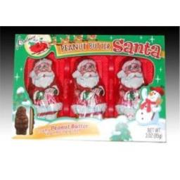 Chocolate Santa Filled With Peanut Butter - Christmas Candy
