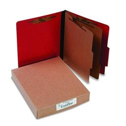 ACCO 15669 ACCO Presstex Colorlife Classification Folders, Letter, 6-Section, 10/Box
