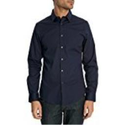 Ben Sherman Mens Stretch Classic Kings Long Sleeve Shirt (17 Neck 32/33 Sleeves, Navy Blue)