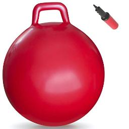 Waliki Hopper Ball Hippity Hop Jumping Hopping Therapy Ball Relay Races Red (Ages 16101 (2975Cm)