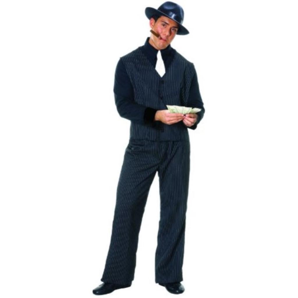 Costume Culture Men's Gangster Man Costume Extra Large, Black, X-Large