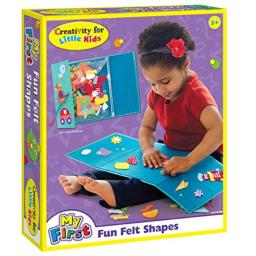Creativity for Kids My First Fun Felt Shapes - Travel Friendly Felt Board for Toddlers (Imaginative Pretend Play for Kids, 100+Piece)