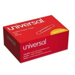 Universal 72220 Smooth Paper Clips, Wire, Jumbo, Silver, 1000/Pack