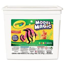 Crayola Bulk Buy Model Magic 2lb Tub Neons 23-2413 (2-Pack)