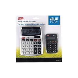 Staples 896012 Spl-230110 8-Digit Display Calculator Value Pack Clear