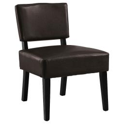 Offex Contemporary Accent Chair with Solid Wood Black Frame - Brown