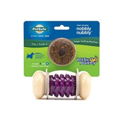 PetSafe Busy Buddy Nobbly Nubbly Treat Holding Dog Toy - Strong Chewers - Small