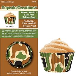 CupcakeCreations BKCUP-8846 Standard Cupcake Baking Cup Camo 32-Pack