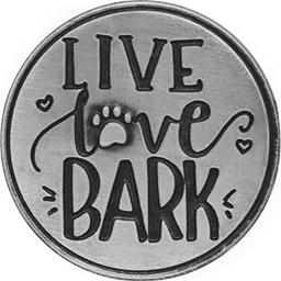 AngelStar 49764 Live Love Bark Pawsitive Token, 1-1/4""