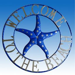 """25-1/2"""" Welcome To The Beach Wall Sign"""