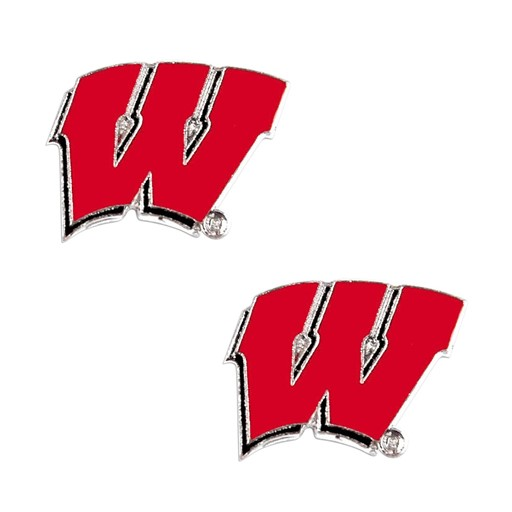 Sports Team Logo Wisconsin Badgers Post Stud Earring NCAA Charm Set