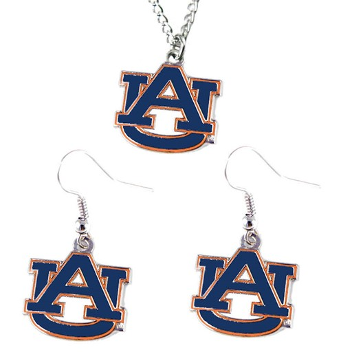 NCAA Auburn Tigers Necklace and Dangle Earring Charm Set