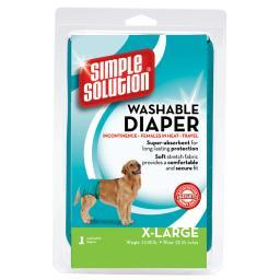Simple Solution 10595 Teal Simple Solution Washable Dog Diaper Extra Large Teal