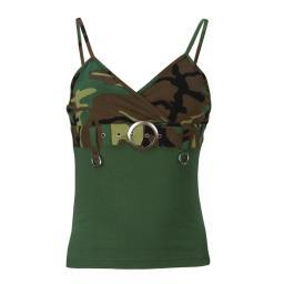 Women's Woodland 2-Tone Tank Top with Buckle
