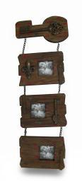3 Panel Shabby Chic Recycled Wood Wall Photo Frame