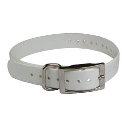 The buzzard's roost buzz-34collar-w white the buzzard's roost replacement collar strap 3/4 white 3/4 x 24