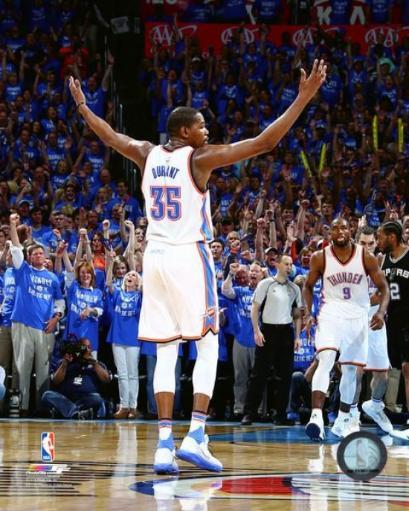 Kevin Durant 2016 NBA Playoff Action Photo Print WVQJRCS7P9DFUUZS