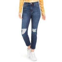 Celebrity Pink Womens Juniors THE ELEVEN Distressed Hi-Rise Jeans