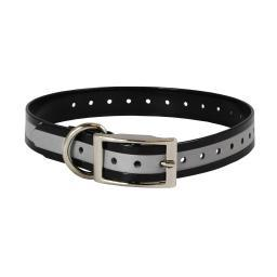 The Buzzard'S Roost Collar-R-Blk Black The Buzzard'S Roost Reflective Collar Strap 1 Black 1 X 24