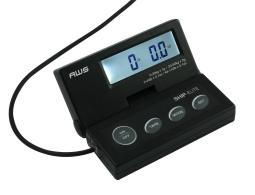 American weightscales se-50 aws se-50 ship elite black low profile shipping scale backlit lcd and 110-pound capacity