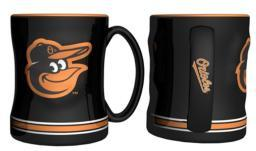 Baltimore Orioles Sculpted Relief Mug MLB Baseball Accessory Drinkware