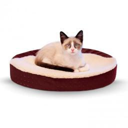 K&H Pet Products 7427 Red K&H Pet Products Ultra Memory Foam Oval Pet Cuddle Nest Red 13 X 19 X 4