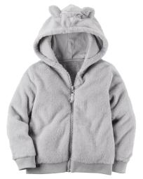Carter's Baby Girl's Fuzzy Mouse Hoodie 6 Months