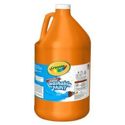 Crayola llc washable paint gallon orange 212836