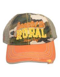 Farm Boy Western Hat Boys Rural Mesh Camo Adjust Orange F53084189