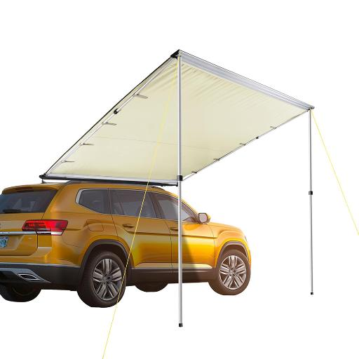 Yescom 8.2x8.2' Car Side Awning Rooftop Pull Out Tent Shelter PU2000mm UV50+ Shade SUV Outdoor Camping Travel Beige