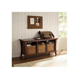 Crosley CF6002-MA Wallis Entryway Storage Bench in Mahogany
