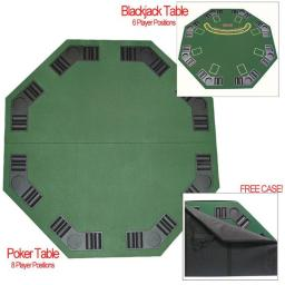 Trademark M340029 Deluxe Poker & Blackjack Table Top with Case