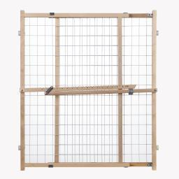 North States 4615 White, Wood North States Wide Wire Mesh Pet Gate White, Wood 29.5 - 50 X 32