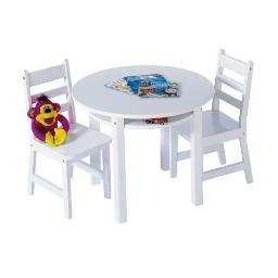Lipper 524w rnd table chair set white