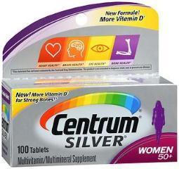 Centrum Silver Women 50+ Tablets - 100 Ct