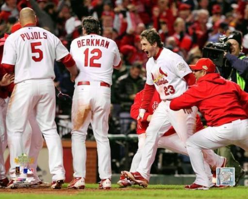 David Freese Game Winning Walk-Off Home Run Game 6 of the 2011 MLB World Series Action A6LX8EQOLE1WEYXW