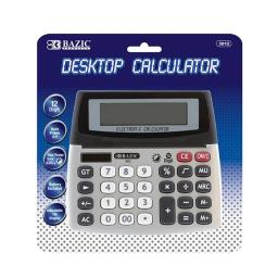 Bazic 3012  12-Digit Dual Power Desktop Calculator w/ Adjustable Display Pack of 12