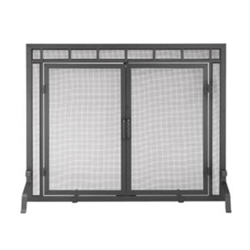 Minuteman X800286 Adams Company Single Panel Fireplace Screen with Doors - 44