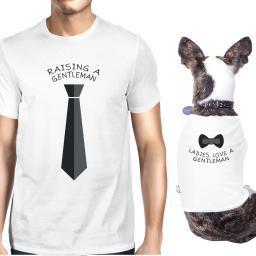 Raising Gentleman Love Gentleman White Pet Matching Tees Gift Idea