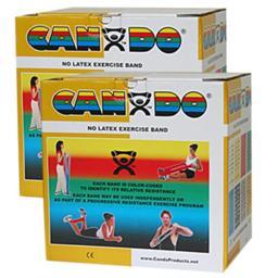 CanDo CanDo-10-5658 Latex Free Exercise Band, 100 yards - Set of 5
