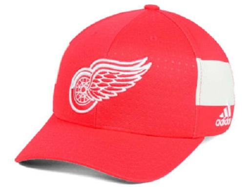 Detroit Red Wings NHL Adidas Draft Stretch Fitted Hat