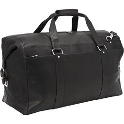 Piel Leather 2997 - BLK Extra Large Zip - Pocket Duffel - Black
