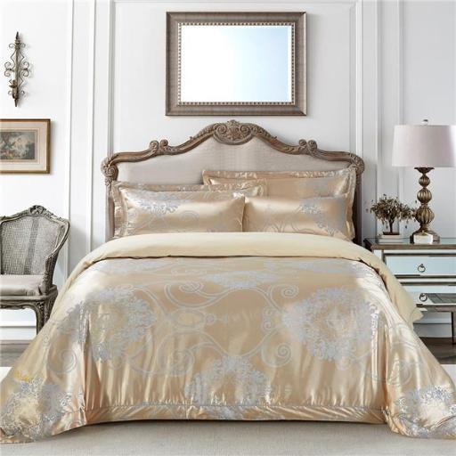 Dolce Mela DM506K Bedding - Verona, Luxury Jacquard King Duvet Cover Set