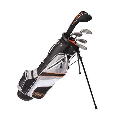 Merchants of Golf 1112554 Tour x Jr Golf Set with Stand Bag LH, 5 Piece - Size 3