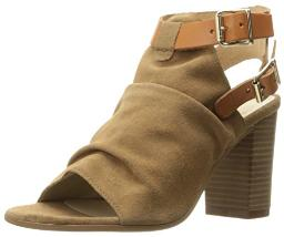 Bos. & Co. Women's Ivy Flat Sandal, Brown Castanga Suede Vachetta Leather, 37 EU/6.5-7 M US
