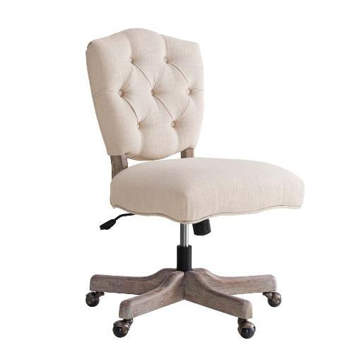 Linon Kelsey White Office Chair