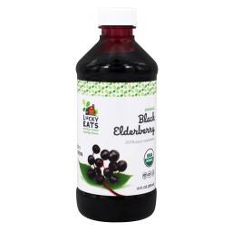 LuckyEats - Organic Black Elderberry Liquid - 8 fl. oz.